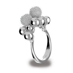 Hot Diamond Ula Cluster Diamond SS Ring